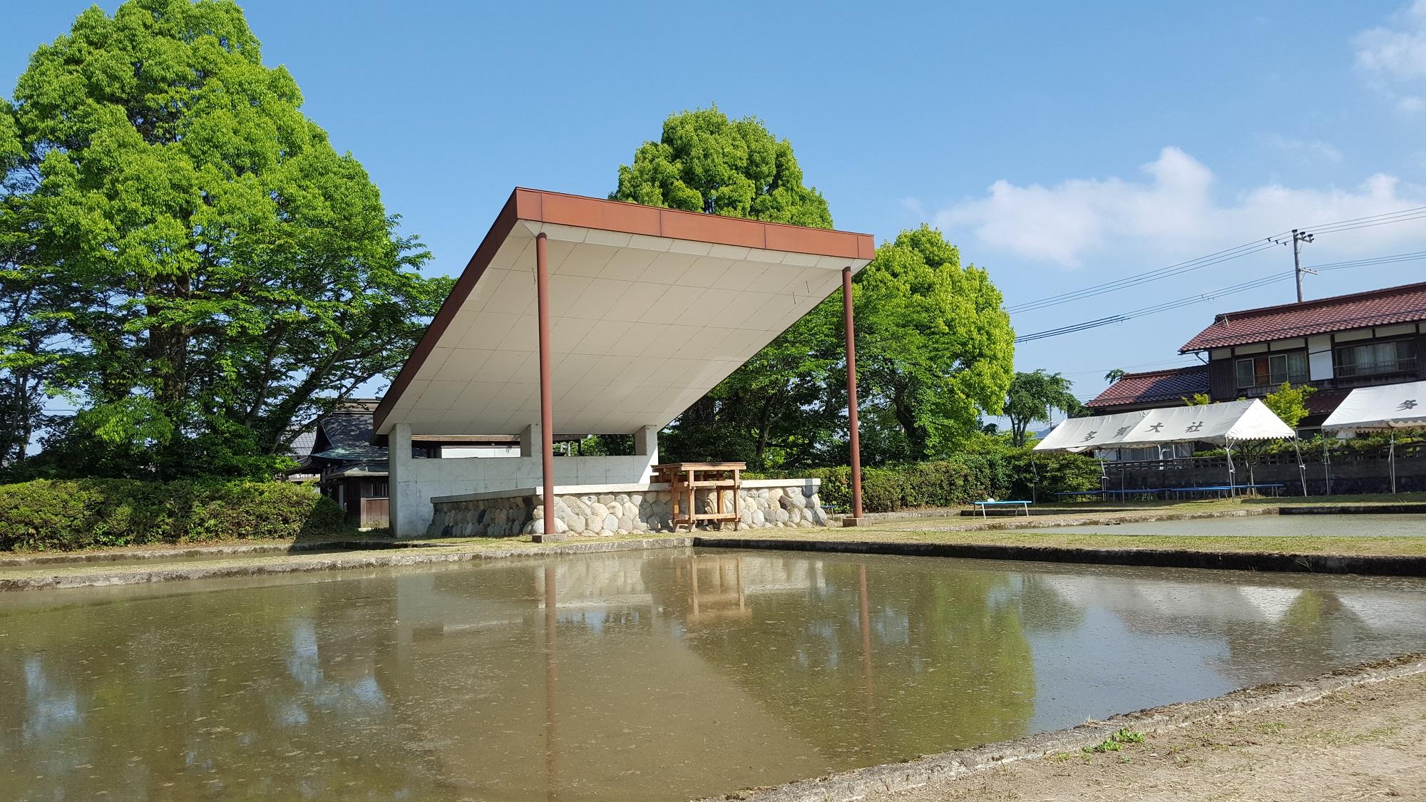 ご神田に水が入りました